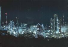 京葉臨海コンビナートの夜景き