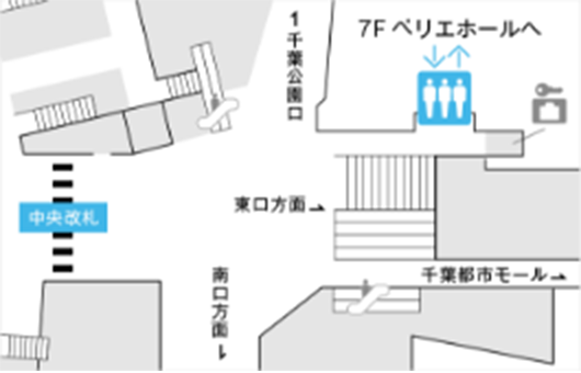 千葉駅3Fからお越しの場合